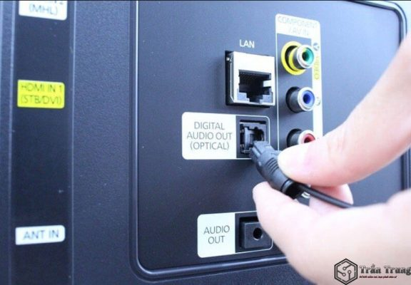 Kết nối Smart TV với Amply qua cổng Optical
