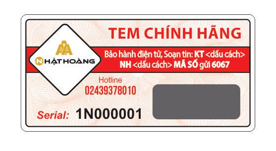 tem chính hãng bảo hành điện tử
