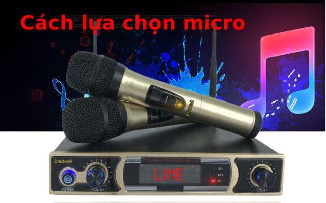 Cach chọn micro hat karaoke