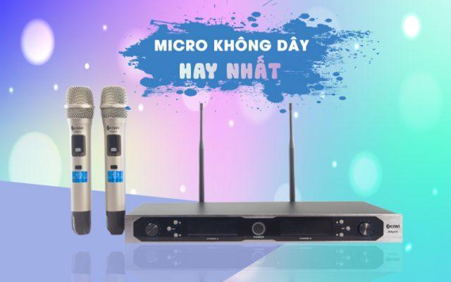 Cách chọn micro karaoke không dây hát hay