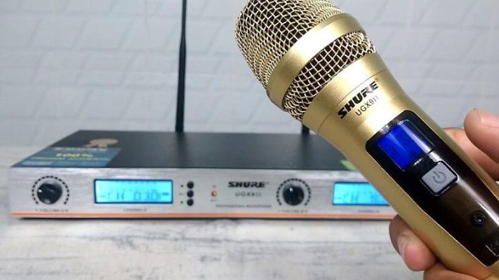 Micro không dây không lên tiếng do tay mic đầu thu không cùng tần số