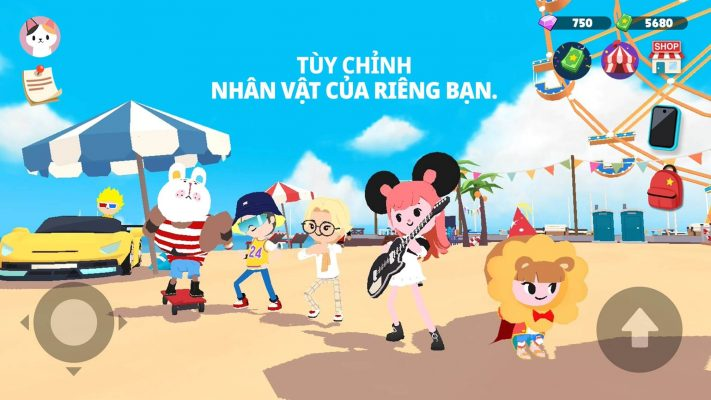 Nhan vat game play together