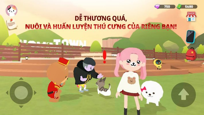Nuoi thu cung trong game play together