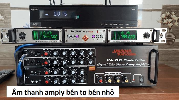Âm thanh không đều ở cả 2 kênh của amply
