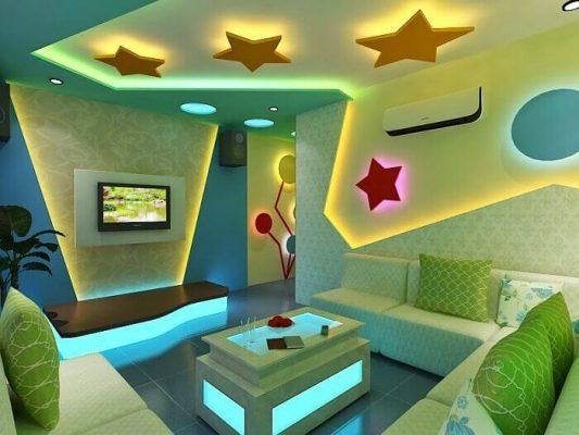 Mẫu phòng karaoke 2021 dành cho gia đình có diện tích nhỏ