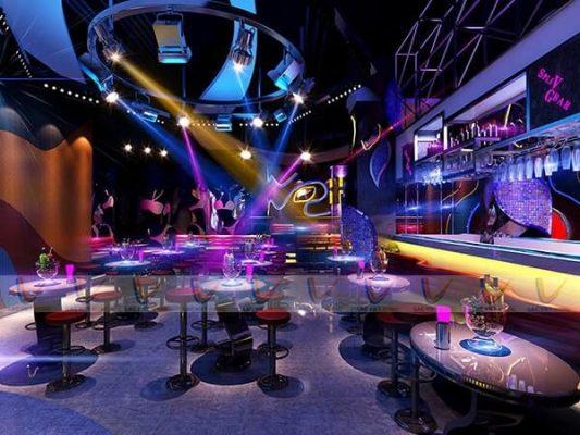 Mẫu phòng karaoke đơn giản kết hợp mini bar