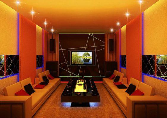 Mẫu phòng karaoke gia đình đẹp có diện tích 40m2-50m2