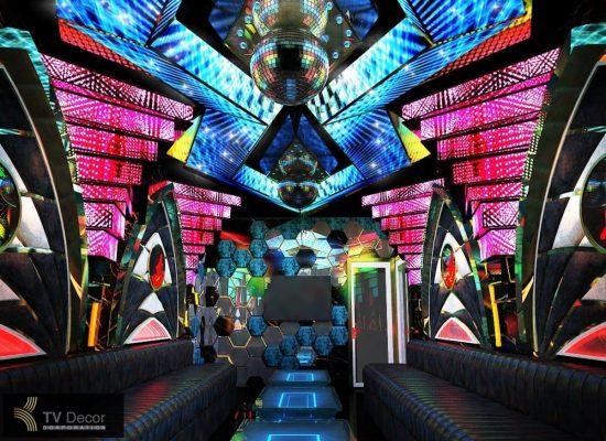 Mẫu phòng karaoke hiện đại kết hợp hiệu ứng 3D